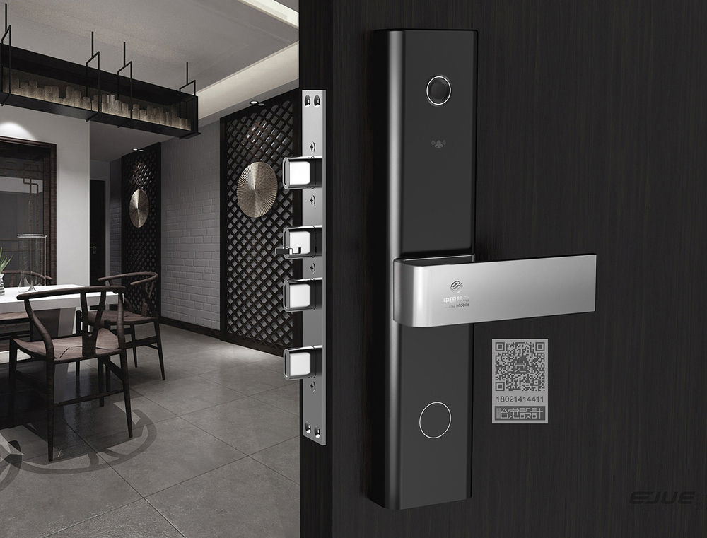 中國移動智能鎖、智能鎖、指紋鎖、工業設計、外觀設計、智能鎖設計