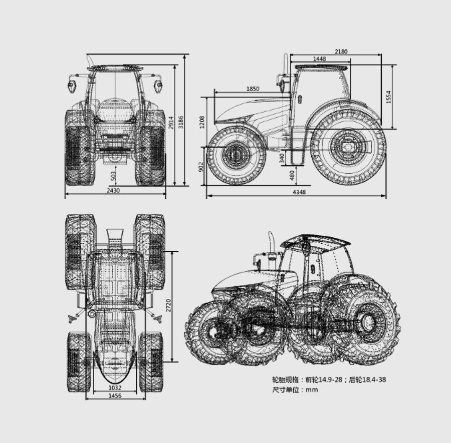 概念拖拉機視圖-結構設計-怡覺設計