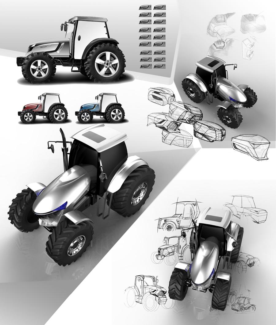 概念拖拉機-工業設計,外觀設計